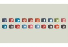 Free vector 3D Vector Cube Icons Set #6803