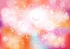 Free vector Abstract Bokeh and Glitter Background Illustration #10683