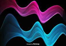 Free vector Abstract Colorful Pink And Blue Wave – Vector #11630