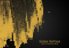 Free vector Abstract golden dots background #4357