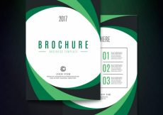 Free vector Abstract green business brochure #12183