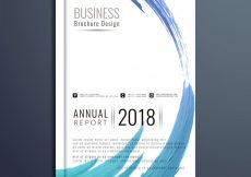 Free vector Abstract modern business brochure design #8384