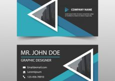 Free vector Abstract modern corporate business card #8584