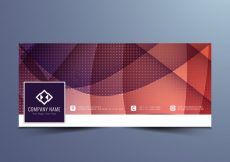 Free vector Abstract modern facebook timeline design #5497