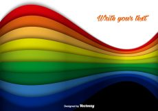 Free vector Abstract Rainbow Colorful Lines Vector Background #11510