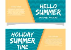 Free vector Abstract summer banners #8506