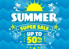 Free vector Abstract summer sale background #7831