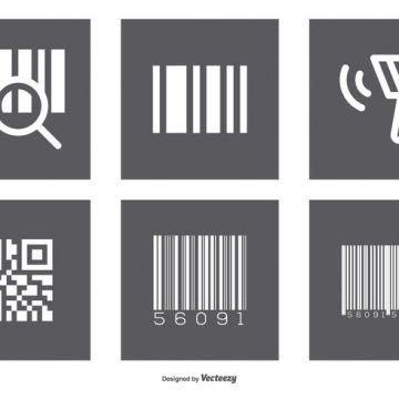 Free vector Assorted Barcode Icon Set #9577