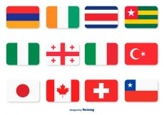 Free vector Assorted Flag Icon Set #5364