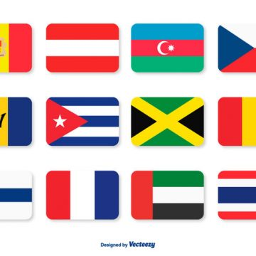 Free vector Assorted Flags Icon Set #9790