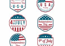 Free vector Assortment of fantastic independence day stickers #9995