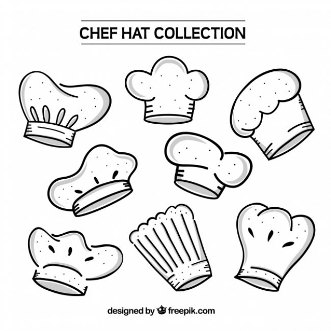 Free vector Assortment of hand-drawn chef hats #7907