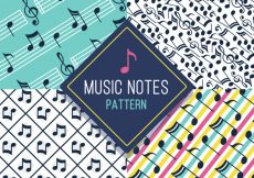 Free vector Assortment of patterns with music notes #12103