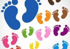 Free vector Baby feet free vector download #4418