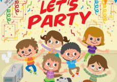 Free vector Background of children dancing at a party #11185