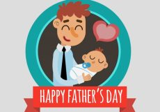 Free vector Background of happy father with his baby #9608