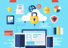 Free vector Background of internet security elements #6836