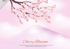 Free vector Background with branch of cherry blossoms #11201