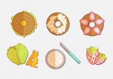 Free vector Bagel Flat Icon Set #5850
