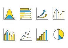 Free vector Bell Curve Line Icons #6381