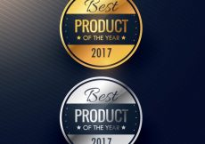 Free vector Best product luxury labels #3972