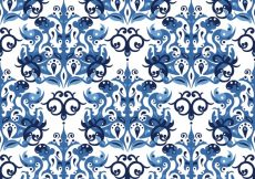Free vector Black and blue elements pattern background #4039