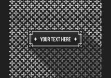 Free vector Black and white pattern background template #5933