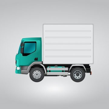 Free vector Blue and white truck #12215