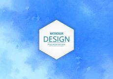 Free vector Blue watercolor background #11935
