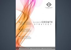 Free vector Brochure for business, wavy forms #11145