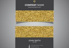Free vector Business card with a gold glitter  #11103