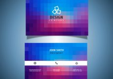 Free vector Business card with a pixel design #8326