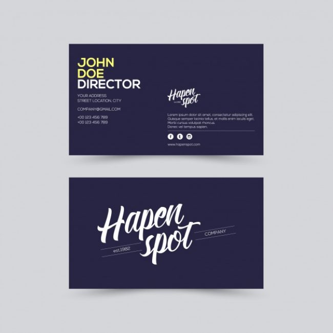Free vector Business card young design #3745