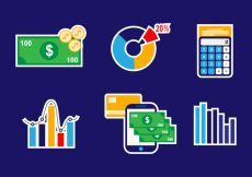 Free vector Business Icon Vector Set #4723
