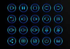 Free vector Buttons Multimedia Vector Icons #5326