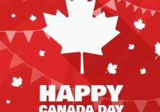 Free vector Canada day background with abstract shapes and garlands #8718