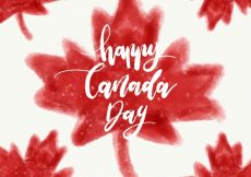 Free vector Canada day background with watercolor leaves #8710