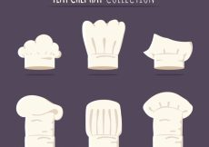 Free vector Chef hat collection #7006