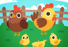 Free vector Chicken and chicks background #9783