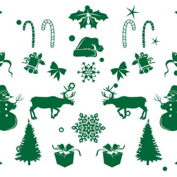 Free vector Christmas Element Icon Set #7572