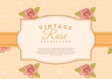 Free vector Classic vintage hand drawn roses background #3832