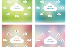 Free vector Cloud computing collection #8952