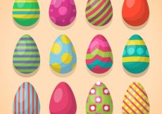 Free vector Collection of colorful easter eggs and different designs #11255