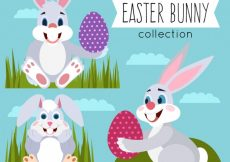 Free vector Collection of cute easter bunny #11363
