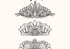 Free vector Collection of hand-drawn crowns #4607