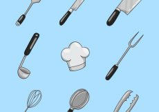 Free vector Collection of hand-drawn kitchen utensil #6984