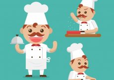 Free vector Collection of nice cooks in flat design #6988