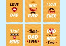 Free vector Collection of retro father's day cards #10070
