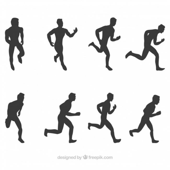 Free vector  collection of runner silhouettes #5333