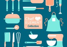 Free vector Collection of vintage kitchen elements #9008